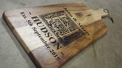 Personalised Cutting Chopping Serving Board Design 2 Wedding Gift House Warming