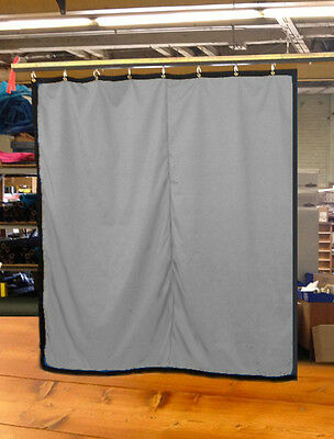 Silver Curtain/Stage Backdrop/Partition, Non-FR, 10 H x 10 W