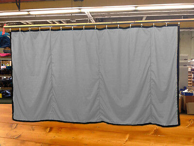 Silver Curtain/Stage Backdrop/Partition, Non-FR, 8 H x 15 W