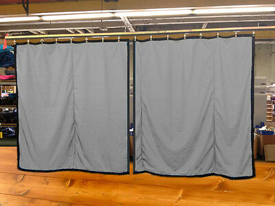 Lot of (2) New!! Silver Curtain/Stage Backdrop, Non-FR, 12 H x 11 W