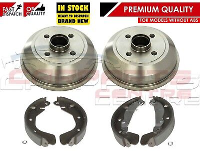 For Vauxhall Corsa C Mk2 2000- Rear Brake Drums Shoe Set Shoes Non Abs Models