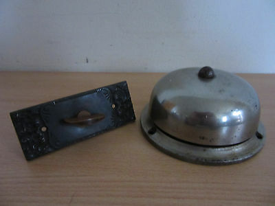 Antique 1893 R&E Russel & Erwin Doorbell #100 + Twist Door Plate