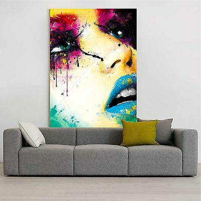 xxl leinwand bild 135x100x5 minjae lee gem lde frau abstrakt canvas popart ikea eur 89 00. Black Bedroom Furniture Sets. Home Design Ideas