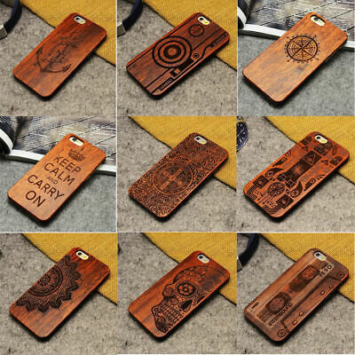 Luxury Natural Wooden Wood Bamboo Case For iPhone 6/7 Plus X 5/5S/SE Cover Shell