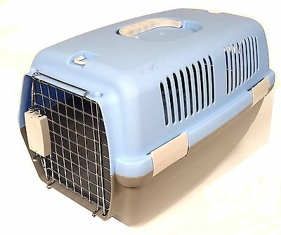 Cat Dog Animal Portable Travelling Carrier Crate For Transporting + Metal Cage