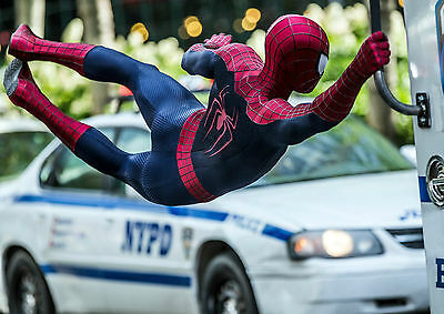 The Amazing Spider Man Action Shot Art Large Poster Print - A0 A1 A2 A3 A4