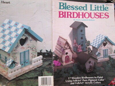 Blessed Little Birdhouses Painting Book -17 Projects- Flowers, Fruits On Differe