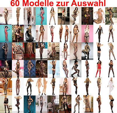 HOT Reizwäsche Fishnet Body Stocking Catsuits Netz Body | 60 Modelle - Gr. S-M-L