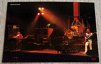 Emerson Lake & Palmer Poster Welcome Back Tour '74 On Stage Live Mega RaRe!