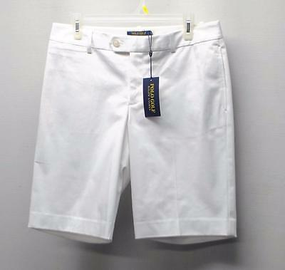 New Ladies Size 6 Ralph Lauren POLO GOLF Cotton/poly white shorts