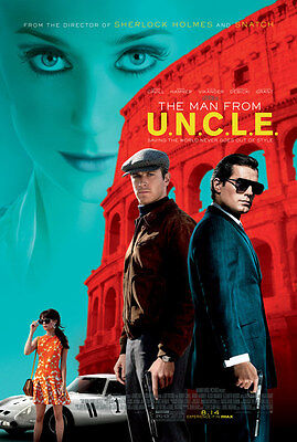 THE MAN FROM U.N.C.L.E. 11.5x17 PROMO MOVIE POSTER UNCLE