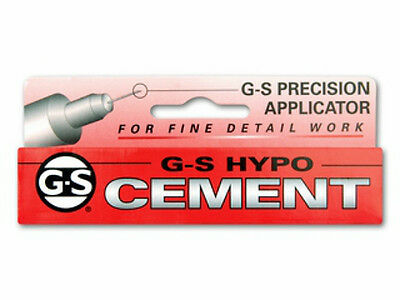 GS Hypo Tube Cement, Watch Crystal Repair Jewelry Beading tiny Third Oz box glue