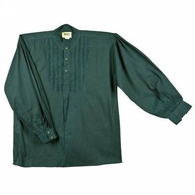 19th Century Green  Dress Shirt Mens Cotton Pullover Rendezvous Fur Trade