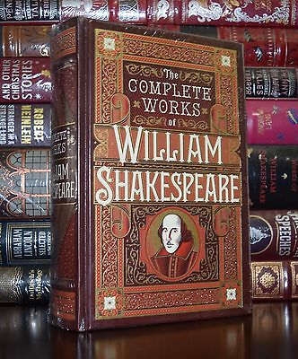 The Complete Works of Shakespeare New Sealed Leather Bound Collectible Ed