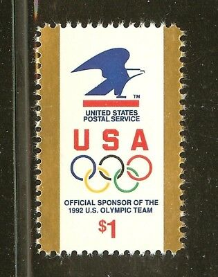 US Scott # 2539 $1.00 US Olympic Team With Postal Eagle Stamp MNH