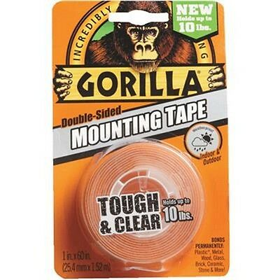 Gorilla Double-Sided Mounting Tape Tough and Clear
