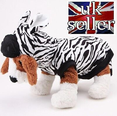 Zebra Costume Halloween Dress Up Dog Clothes