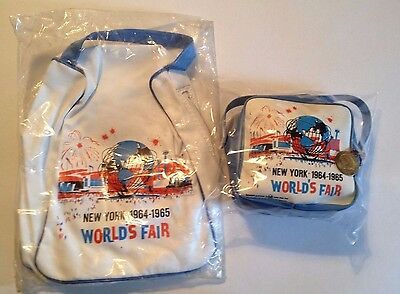 1964-1965 New York World's Fair Unisphere Official Lunch Bag and Children's Bag