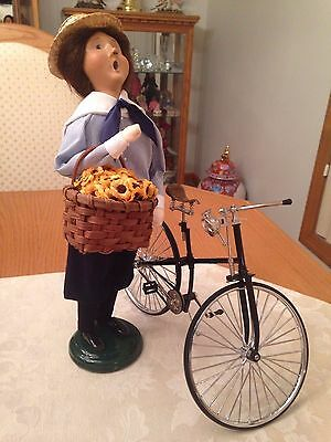 Byers' Choice 2000 Lady with Bicycle