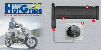 Oxford Hot Grips Light Scooter Heated Grips Winter Warmer