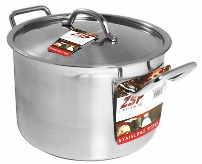 ZSP Heavy Duty Stainless Steel Pan Professional Large Saucepan & Lid  32cm 19.3L