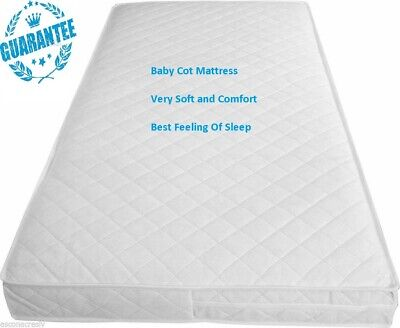 New Baby Cot Bed/Toddler Quilted Fully Breathable Waterproof Mattresses All Size