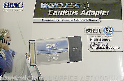 Lot Of 5 Smc Wireless Cardbus Adapter 802.11G 54Mbps - Smcwcb-G