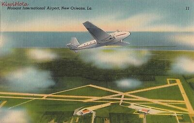 Postcard Moisant International Airport New Orleans LA