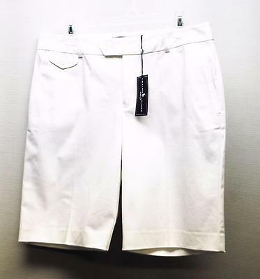 New Ladies Size 6 Ralph Lauren Classic GOLF Cotton/poly white golf shorts