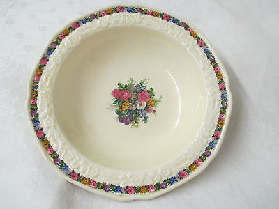 Vintage England Crown Ducal china Cereal Bowl Charm Gainsborough Rd No 749657