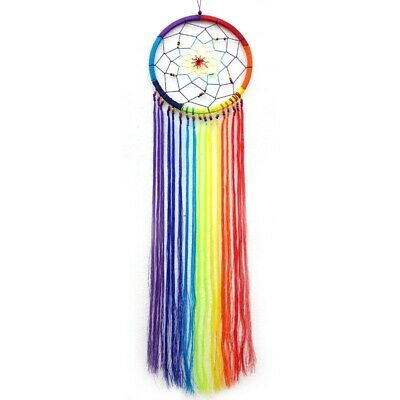Mini Rainbow String Dream Catcher - Hippie Peace Bedroom Decor Accessories Sleep