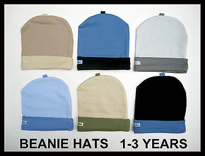 BABY BOY TODDLER COLURFUL BEANIE SOFT COTTON PLAIN HAT BEANIES CAP 1-2yrs,2-3yrs
