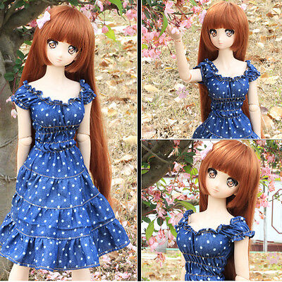 New 1/3 SD DD BJD Smart Doll Clothes Sweet Jeans Wave Point Cute Dress/Skirt