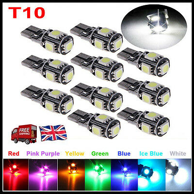 T10 Car Bulbs Led Error Free Canbus 13 Smd Xenon White W5W 501 Side Light Bulb