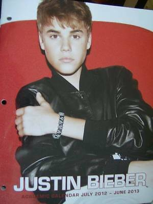 Justin Bieber Academic Calendar Planner To June 2013- With Reference Notes