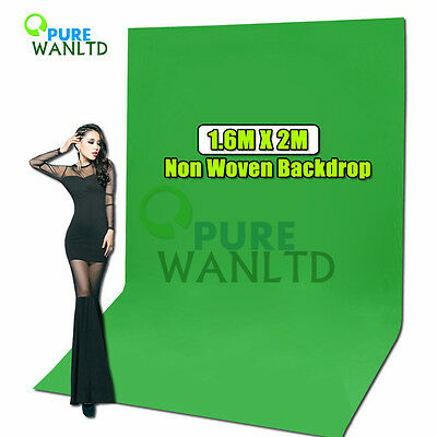 1.6 x 2m Green Screen Backdrop Chromakey Background Non Woven Fabric Backdrop AU