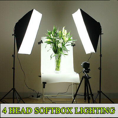 Photography 2200W Photo Studio Softbox Lighting Video Soft Box Light Stand Kit