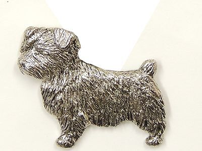 Norfolk Terrier Brooch, Silver Plated