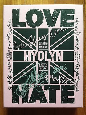 Hyolyn autographed LOVE & HATE PROMO CD signed 1st Album SISTAR