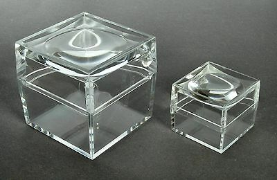 2x Magnifying Acrylic Display Box (Choice of 2 sizes) Suitable Crystals/Minerals