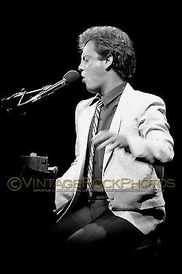 Billy Joel Photo 8x12 or 8x10 inch Live 1980's Concert from 35mm Original Neg 25