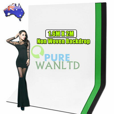 Non-Woven Fabric 1.6m x 2m Photo Backdrop Photography Background Cloth /3 Colors