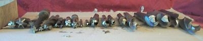 Lot of 22 Tapered & Straight Drill bits.  Mixed sizes, Some USA