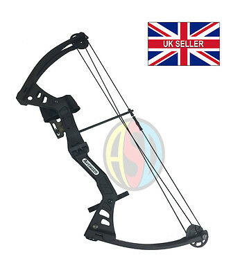 ASD Black Avenger Kids / Child Archery Compound Bow Set With Arrows and Armguard