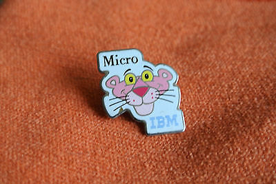 16329 Pin's Pins Ibm Micro Computer Panthere Rose Pink Panther Ordinateur
