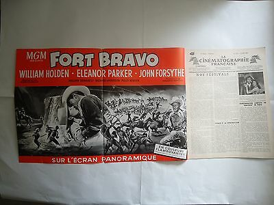 WESTERN/ESCAPE FROM FORT BRAVO/french huge herald