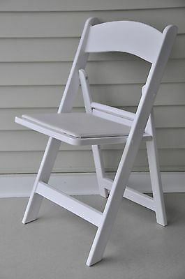 28 Folding Chairs White Resin Auditorium Theater Padded Stacking Wedding Chair