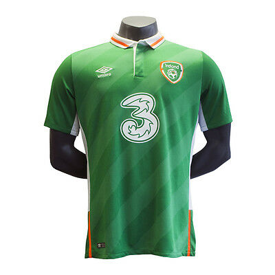 Kids Ireland Soccer Home Short Sleeved Jersey