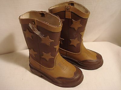 Vintage....Cool Pair Of Rubber.....Western Style.....Boots....Size 7