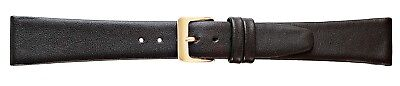 New Ladies Extra Long Genuine Smooth Calf Leather Black Watch Strap Band